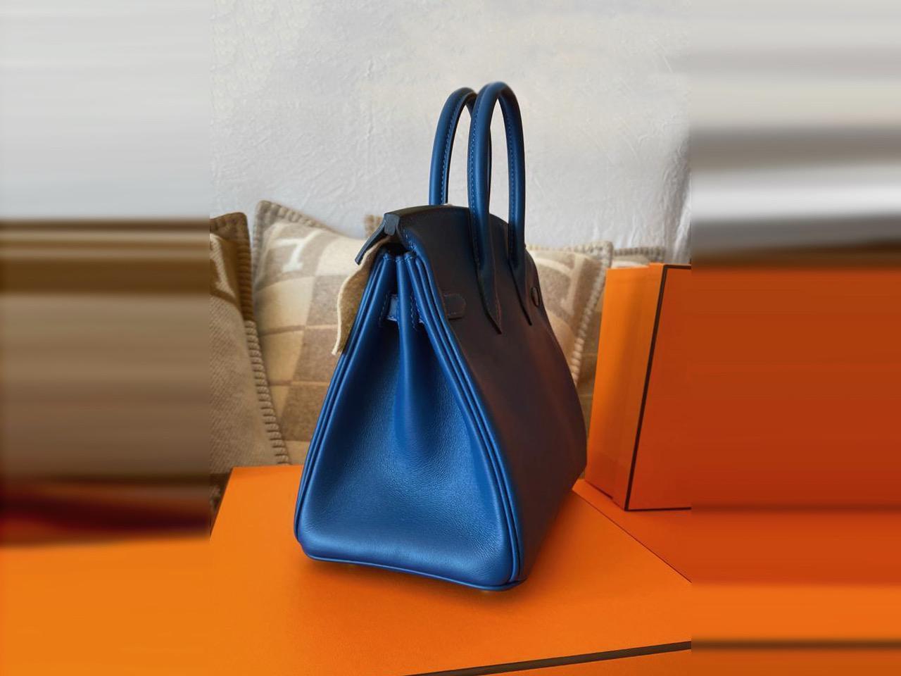 Hermès-Birkin-25-Deep-Blue-0